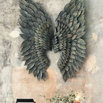 Greywash Gilt Metal Angel Wings - Bestsellers