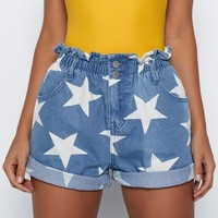 Starry Dreams Shorts Blue