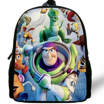 12-inch Childlike Toy Story School Bag Cute Buzz Lightyear Backpacks Toy Story Book Bags For Boys and Girl Aged 1-6.