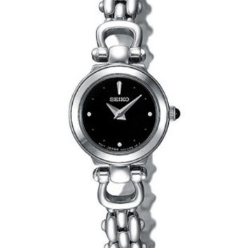 Seiko Ladies Jewelry Style  Watch - Stainless -  Black Face