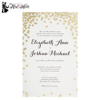Gold Dot Wedding Invitations | Hobby Lobby