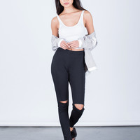 Ripped Knees Joggers