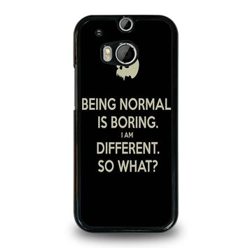 NORMAL IS BORING QUOTES  HTC One M8 Case Cover