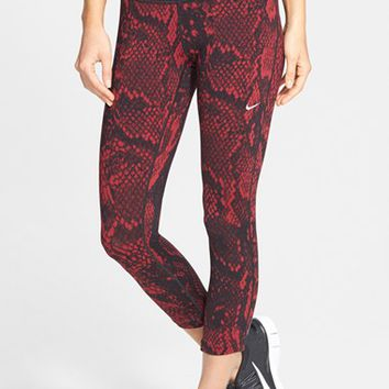 Women's Nike 'Epic Lux' Snakeskin Print Crop Running Tights