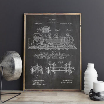 Train Printable, Train Art Poster, Train Wall Print, Train Engineer,Railroad Nursery,Locomotive Art Print,Train Wall Decor, INSTANT DOWNLOAD