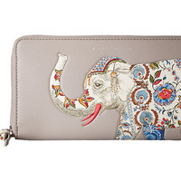 Tory Burch Elephant Zip Continental Wallet