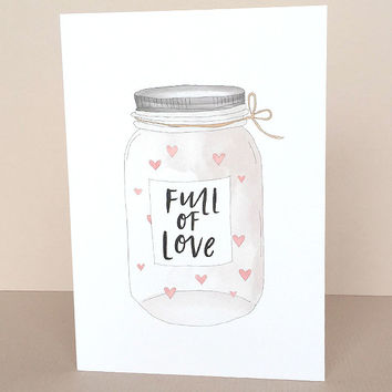 Full Of Love Jar Greeting Card by In The Daylight