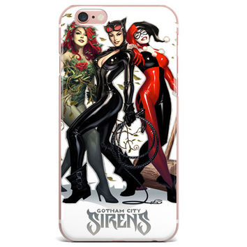 "Harley Quinn Catwoman Poison Ivy (Gotham Sirens) for iPhone 6/6s PLUS (5.5"")"