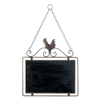 Country Farmhouse Rooster Hanging Chalkboard