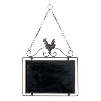 Country Farmhouse Rooster Hanging Chalkboard | 6 Left!