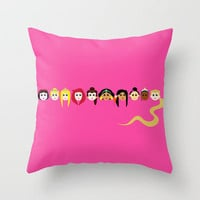 Disney Princesses Throw Pillow by Aurelie Scour Art | Society6