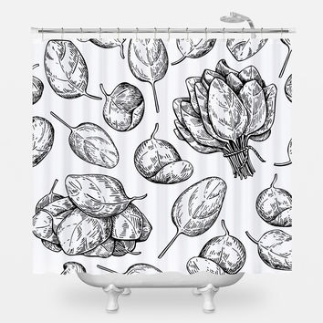 Baby Spinach Shower Curtain