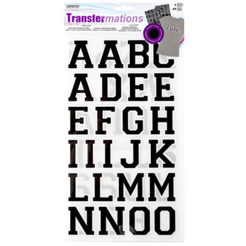 Transfermations™ Iron-On Letters, Athletic, 1.5""