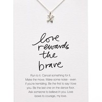 Dogeared 'Danielle LaPorte Truthbombs - Love Rewards the Brave' Necklace   Nordstrom