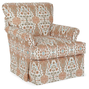 Kiawah Ikat Chair, Orange, Club Chairs