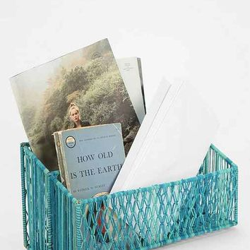 Woven Letter Holder- Turquoise One