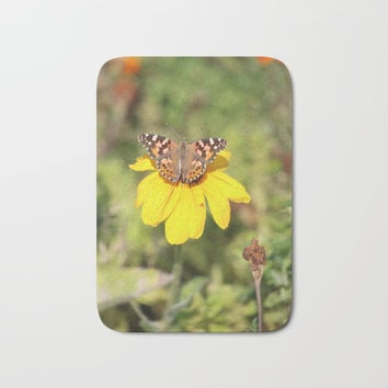Autumn Butterfly Colors Bath Mat by Theresa Campbell D'August Art