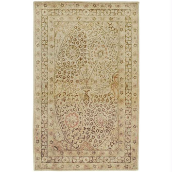 Area Rug - Coral, Honey, Carnelian, Vanilla, Celadon Tint, Yellow And Peach Cream
