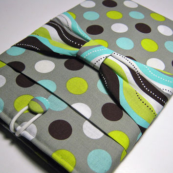 iPad Case, iPad Air Case, iPad Sleeve, iPad Cover, iPad 1 Case, iPad 2 Sleeve, iPad 3 Cover, iPad 4 Case, iPad 5 Case, Polka Dots w Bow
