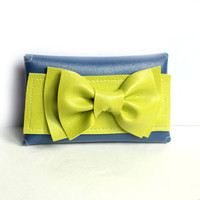 Big Bow in lime green and blue iPhone Case, Smartphone case, neon, case for Android, envelope,trendy, iPhone 4s, iPhone 4,