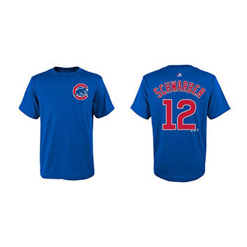 Kyle Schwarber Chicago Cubs #12 MLB Youth Player Name & Number T-Shirt (Youth Large 14/16)