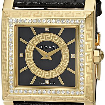 Versace Women's VQF050015 DV-25 Analog Display Swiss Quartz Black Watch
