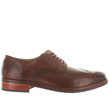 Florsheim Salerno Wing Ox - Cognac Leather Perforated Wing Tip Oxford