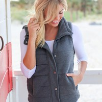 Charcoal Quilted Vest
