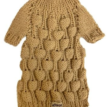 Balloon hand-knitted jumper