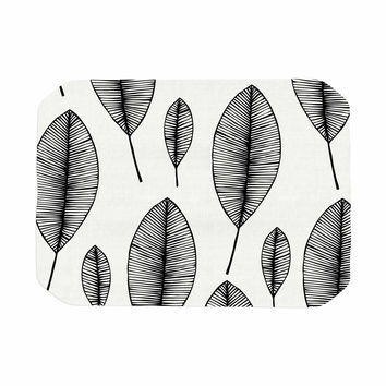 "KESS Original ""Leaves"" Black White Place Mat"