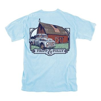 Fripp Farmhouse Tee in Chambray by Fripp & Folly