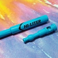 Hi Liter Magic Marker Pen Pipe Blue