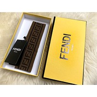 Fendi men and women with knitted striped letter headband #1