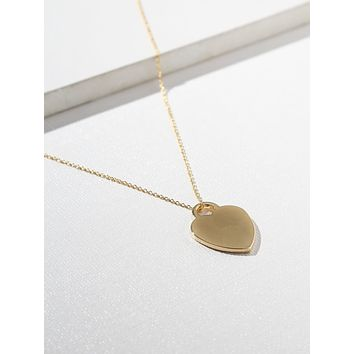 Gold Private Heart Necklace