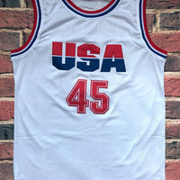 Donald Trump 45 USA Basketball Jersey 2016 Commemorative Edition White all stitched