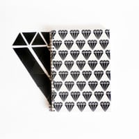 screenprinted A5 ivory journal sketch book notebook diamond pattern geometric print