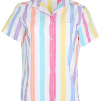 Candy Striped 80s Blouse   Womens   Rokit Vintage Clothing