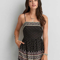 AEO LACE-UP ROMPER