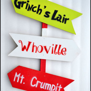 Outdoor Christmas Decoration, Grinch Garden Stake, Christmas Holiday, Holiday Decoration, Holiday Sign, Yard Art