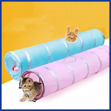 Pet dog cat Toy 2017 Pet Cat Play Tunnel Funny Cat Long Tunnel Kitten Play Toy Cat Toys.