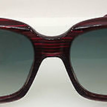 NEW AUTHENTIC SAFILO GLAMOUR SORRENTO EGK-LE BURGUNDY PLASTIC SUNGLASSES W/STONE