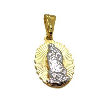 "(1-2158-H9) Gold overlay Two Tone Guadalupe Pendant, 1""."