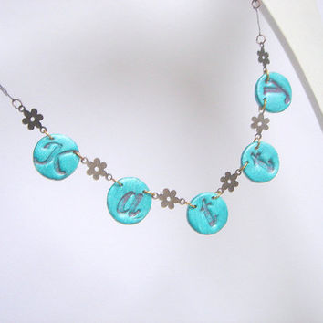 Bridesmaids Name Necklace by accessory8 on Etsy