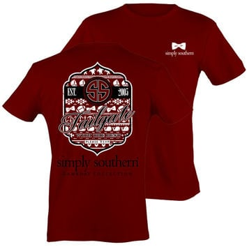 Simply Southern Preppy Football Tailgates With The Best RSVP Cardinal T-Shirt