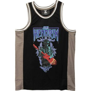 Jimi Hendrix Men's  Basketball  Jersey Black