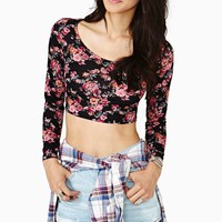In Bloom Crop Tee