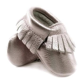 Shine Genuine Leather Baby Moccasins