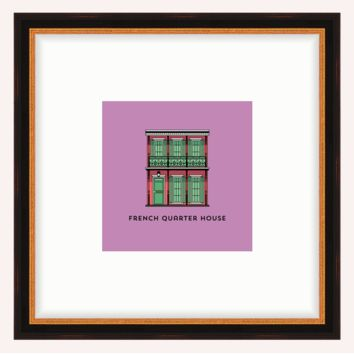 French Quarter House Framed Architecture Print