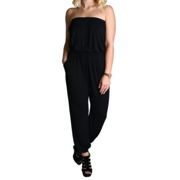Black Piko Jumpsuit