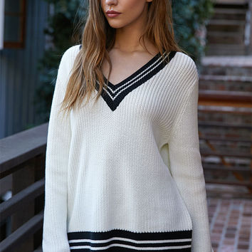 LA Hearts Varsity V-Neck Pullover Sweater at PacSun.com